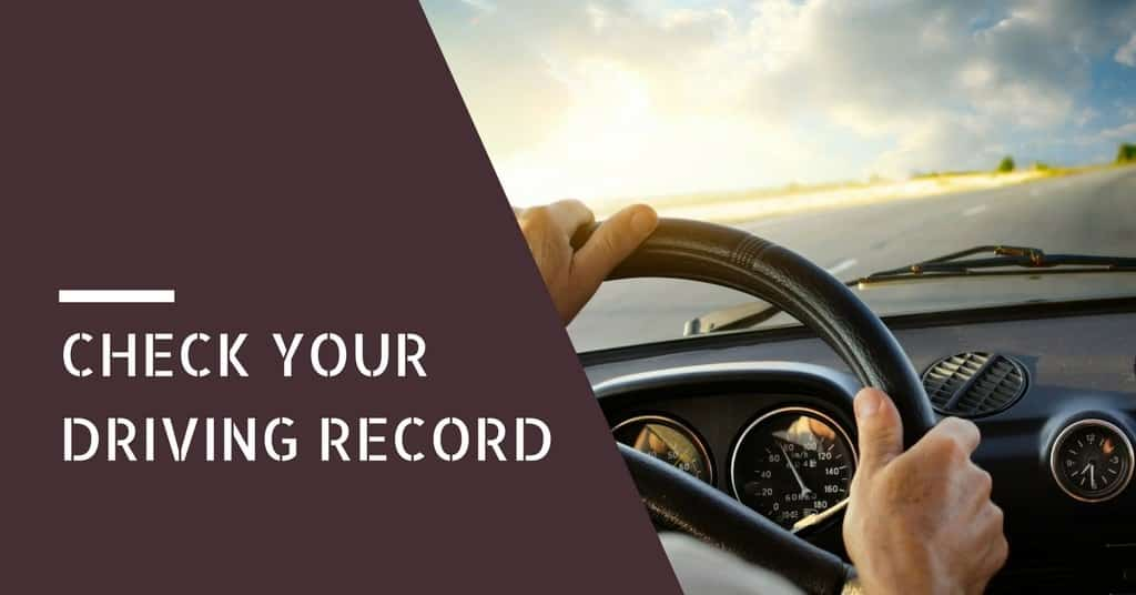 How to Check your Driving Record