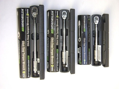 Set of 3 Pittsburgh Pro Reversible Click Type Torque Wrench